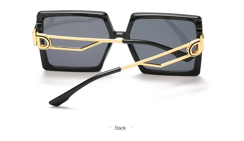 Fashion Sunglass Designer Luxury Brand Square Sunglasses Women Vintage Oversized 2021 trend Female Sun Glasses Shades For Women (10)