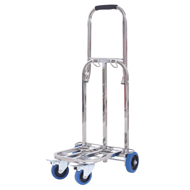 Stainless Steel Folding Luggage Cart Portable Climbing Building Trolley Car Trolley Trailer Trolley Shopping Cart Heavy King