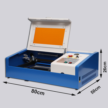 CNC Laser Engraving Cutting Machine 40W CO2 USB Laser Engraver Cutter European Counties Free Shipping laser engraving machine cnc rotary axis co2 laser engraver cutter 40w