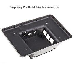 Raspberry pi 7-Polegada tela de toque lcd caso preto para raspberry pi 3b/3b +, só o caso não inclui a tela