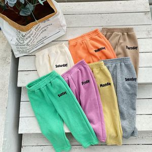 Spring boys girls letters printing sweatpants kids cotton loose sports pants children trousers