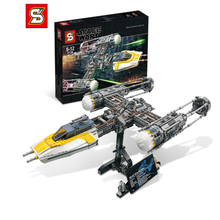 lepin 05040 star wars y star wing attack fighter building block brick diy toy educational gift compatible legoingly 10134 05040 Star Series Wars The Y wing Attack Starfighter Building Block Assembled Compatible with Lepining 10134 New Children Toys