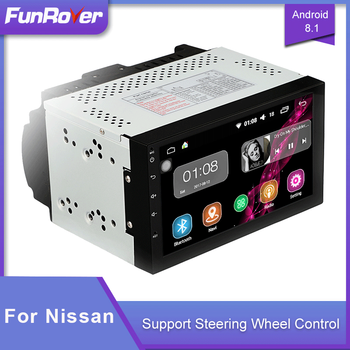 Funrover Car Audio Radio Multimedia Player Android 2 Din Car DVD For Nissan Qashqai X-trail Almera Pathfinder Teana 2008 2011 image