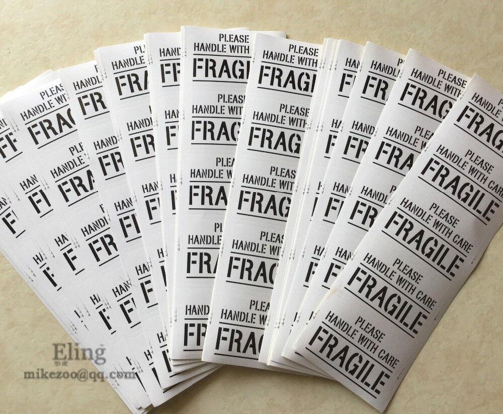 COM CUIDADO FRÁGIL Envio Etiqueta Auto-adesiva, item no. SS22