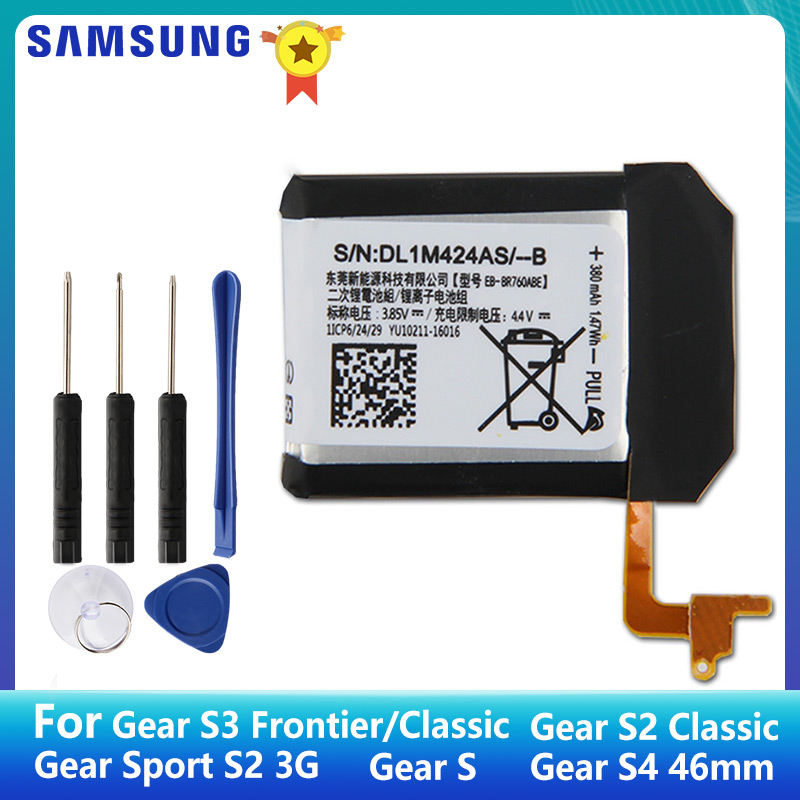 SAMSUNG Original Battery EB-BR760ABE For Samsung Gear S3 Frontier R760 SM-R765 S2 3G Classic SM-R720 Gear S SM-R750 Gear S4 46mm
