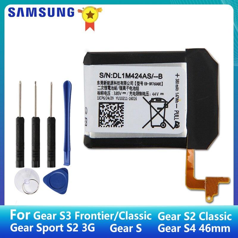 Samsung original bateria EB-BR760ABE para samsung engrenagem s3 fronteira r760 SM-R765 s2 3g clássico SM-R720 engrenagem s SM-R750 engrenagem s4 46mm