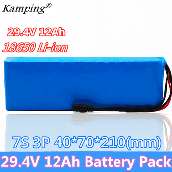 2019 New 24V Battery 7S3P 29.4V 12Ah Li-ion Battery Pack with 20A Balanced BMS for Electric Bicycle Scooter Power Wheelchair
