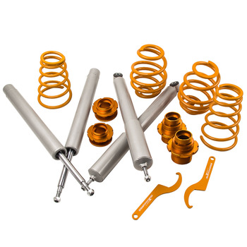 COILOVER FOR BMW E30 51mm Strut FRONT REAT SUSPENSION KIT 51mm Front Inserts Adjustable Coil Springs over Strut image