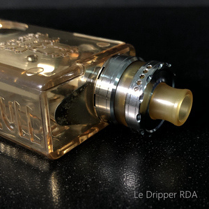 Image 5 - Vape flavor Le Dripper RDA La Atomizer Single Coil Atomizer Ultem Tank 22mm Rebuildable Drops with Squonk pin BF