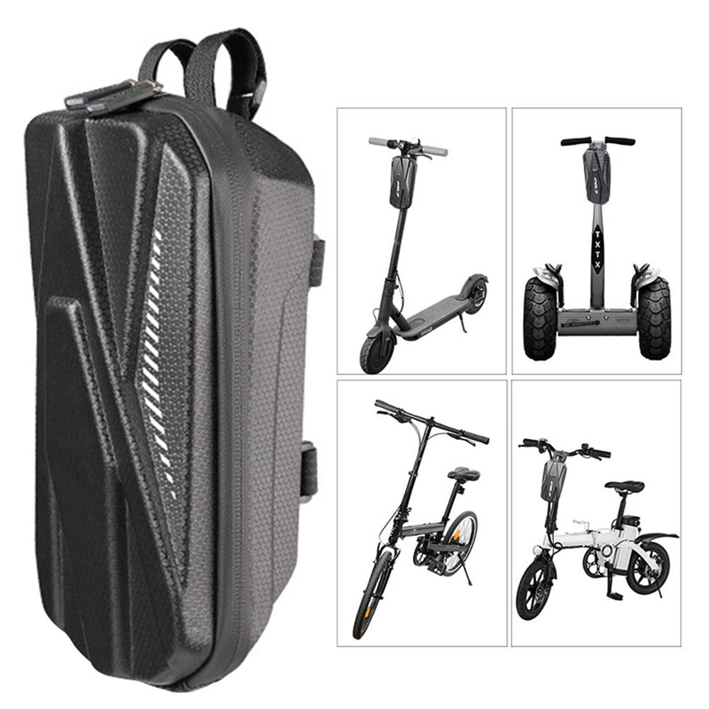 Waterproof Scooter Front Hanging Bag Electric Scooter Bicycle Durable EVA Hard Shell Storage Bag Suspension Bag Car Charger Tool