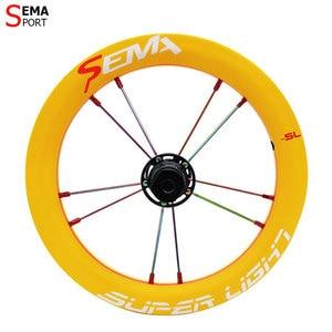 Image 3 - Karbon tekerlek SEMA SL170 karbon tekerlek 12 inç süper hafif tekerlekler SKF seramik rulman çocuklar için denge bisikleti titanium konuşmacı
