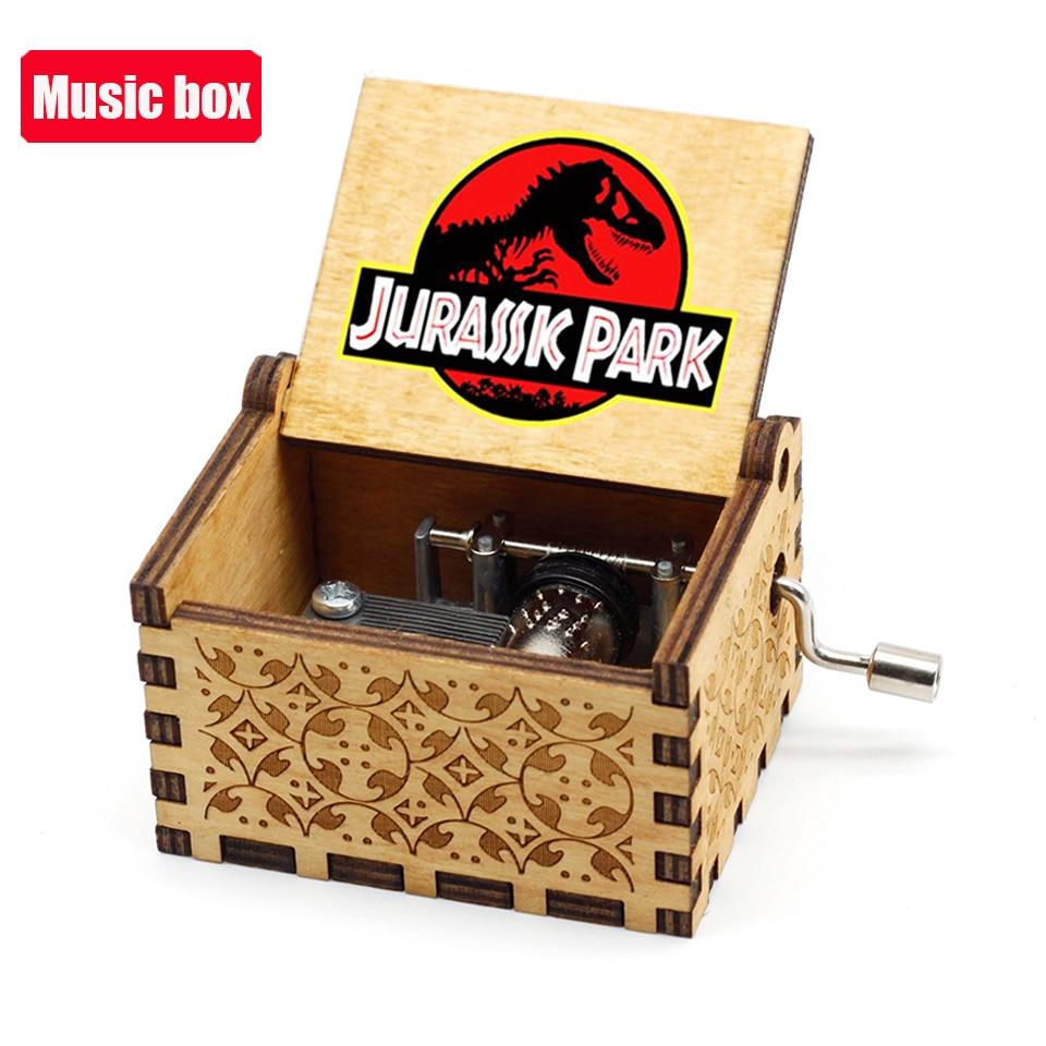 Hot Jurassic Park Hand Crank Music Box Queen  Musical for Birthday Christmas Gift Home Decor 6