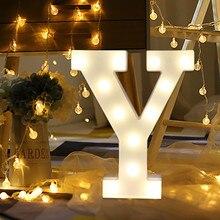 LED Letter light Home Wedding Decor Alphabet Romantic Lights Light Up White Plastic Letters Standing Hanging Y&Z