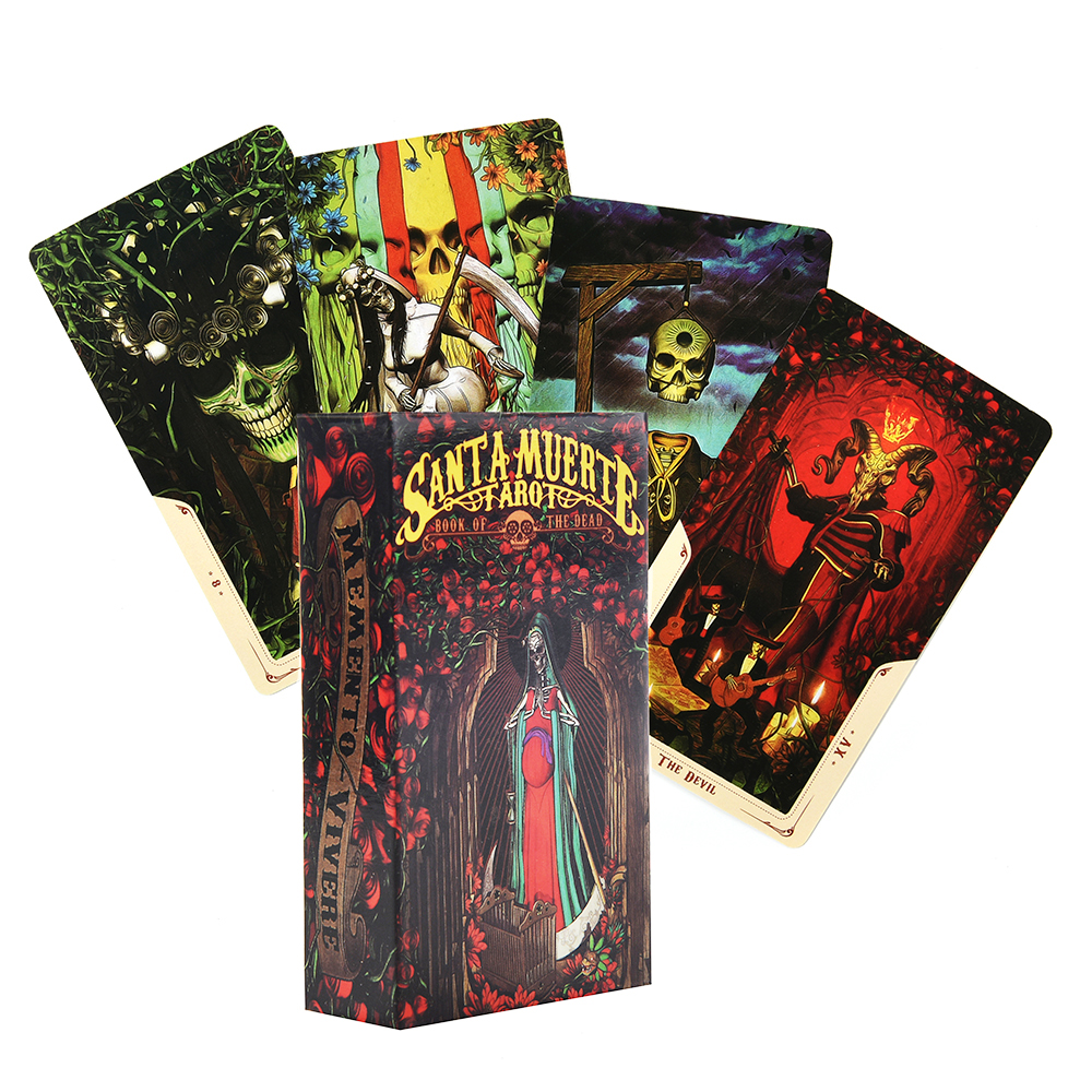 Santa Muerte Tarot Deck Book Of The Dead Cards Deck Tarot Oracle Cards Game