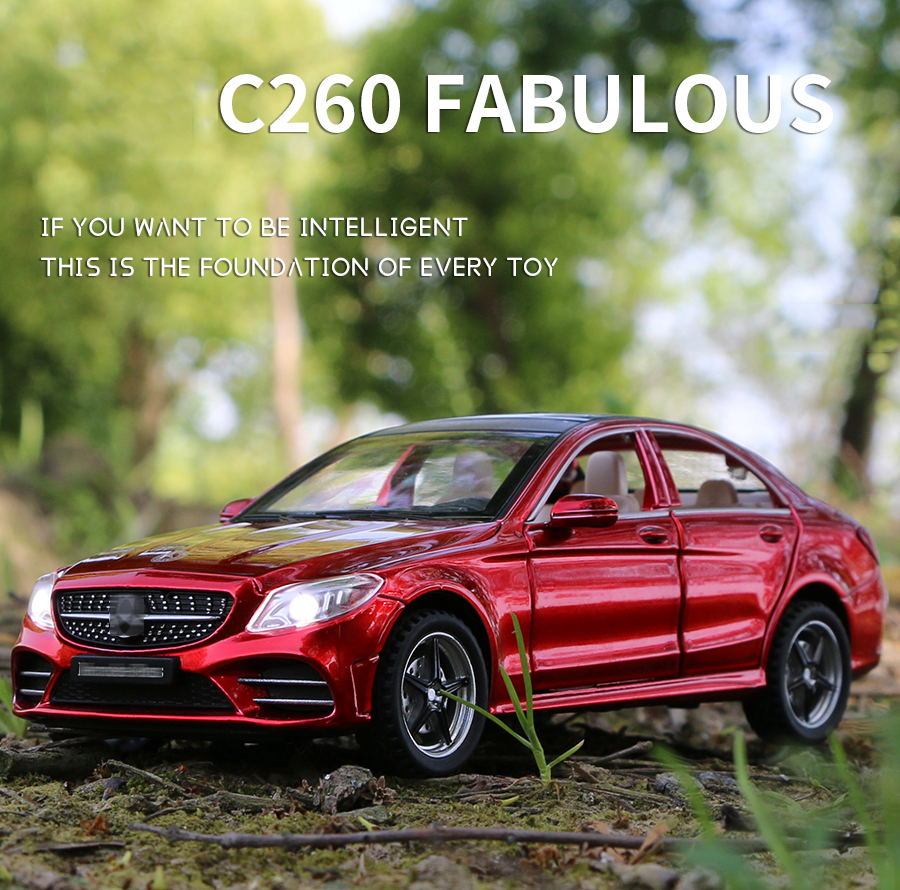 1:32 Metal Car C260 L Diecasts & Toy Vehicles Car Boys Toys Gifts For Children Alloy Car Collection Model Simulation