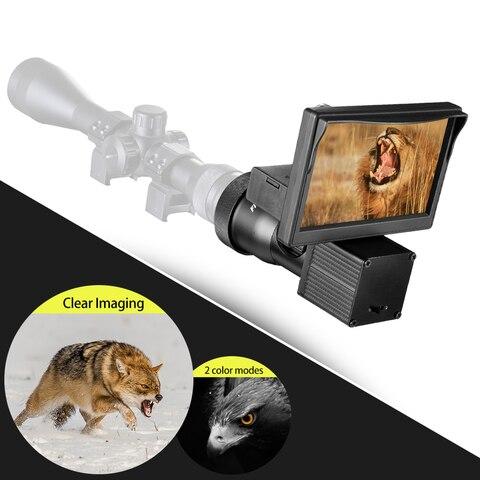 fogo lobo visao noturna 5 0 polegada display siames hd 1080 p escopo cameras de