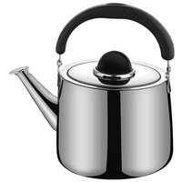 Tea Kettle Stovetop Teapot 2 Liter Stainless Steel Hot Water Kettle Whistling  Mirror Finish Folding Handle Fast to Boil  Whistl|Teapots| |  -