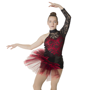 Image 1 - 소매 도매 여성 그릴 라틴 재즈 발레 레오타드 투투 스팽글 나일론/라이크라 레이스 댄스웨어