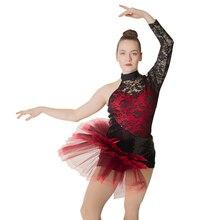 Venta al por mayor de ropa de baile con encaje de LICRA y nailon para mujeres Grils Latin Jazz Ballet leotardo tutú lentejuelas