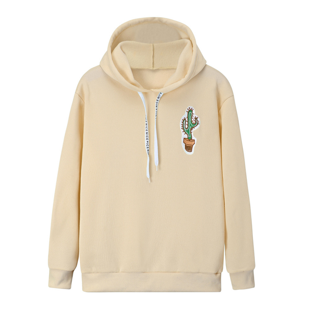Sweatshirt Hooded Harajuku Pullovers Streetwear Long-Sleeve Print Feminino Ladies Moletom