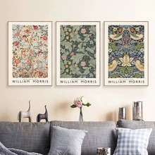William Morris Museum Exhibition Canvas Painting Vintage Posters and Prints Abstract Wall Art Picture for Living Room Home Decor