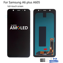 For Samsung Galaxy A6 Plus A6+ A605 SM-A605F Display LCD Screen Replacement For Samsung A605FN A605G A605GN LCD Display OLED
