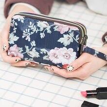 1 pçs mulher senhora carteira bolsa zíper moda durável para o telefone móvel moeda dinheiro jan88
