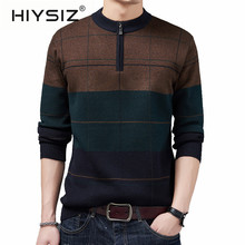 HIYSIZ Brand 2019 Autumn Winter Sweaters Men O-Neck Knitwear Pull Homme Men Fashion Warm Clothes Pullover Sweater Male H3026