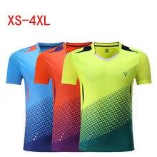 Мужские и женские Детские теннисные футболки, быстросохнущая теннисная футболка, мужская рубашка для бадминтона, футболки для настольного тенниса, одежда для бадминтона 3860