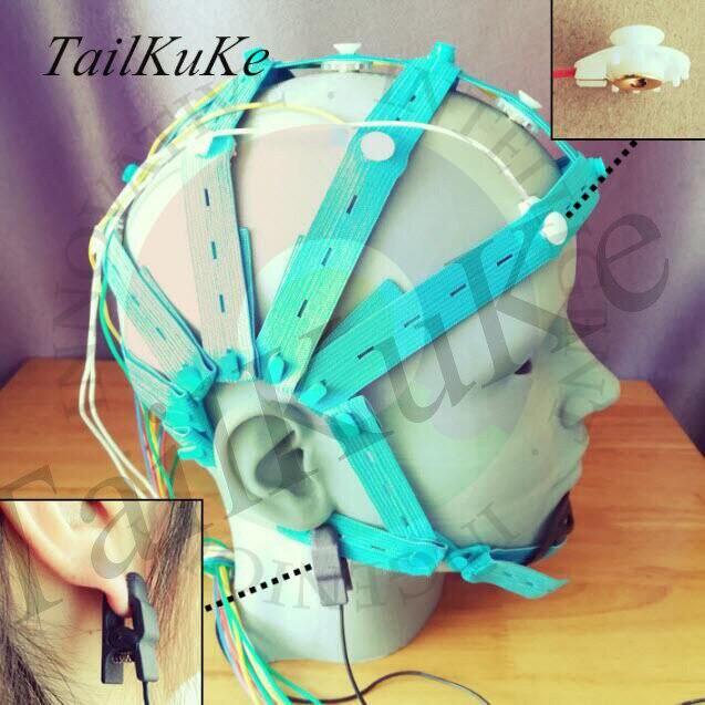 EEG Brain Cap, Wet Electrode Cap, Gold Plated Electrode Cap For OpenBCI And Other Equipment