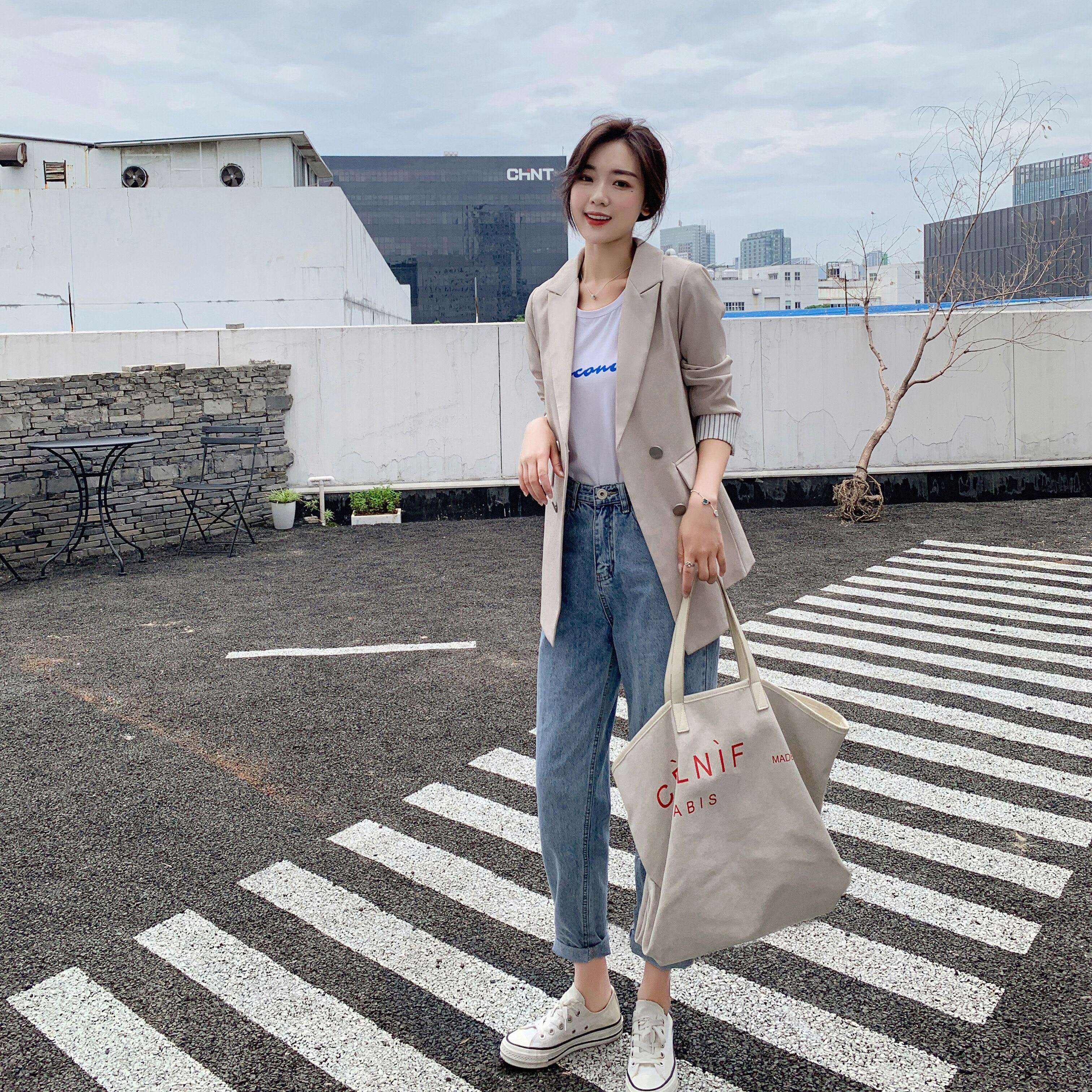 Small Suit Jacket Female NewKorean Version  Loose Outwear Autumn Fashion Wild Suit Women Coat
