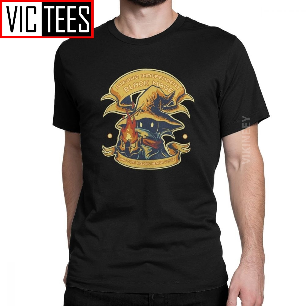 Final Fantasy T Shirt Men's Cotton T-Shirt Cloud FF7 Video Game Strife Shinra Chocobo Clothes Oversized