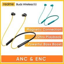جديد Realme براعم اللاسلكية برو ANC ENC إلغاء الضوضاء سماعات مضخم صوت بلوتوث 5.0 سماعة صغيرة مقاوم للماء سماعة رياضية