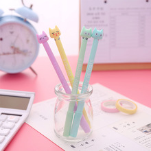 Cute cat student creative gel pen 0.38mm black supplies