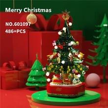 486 шт Рождественская елка с музыкальной коробкой модель кирпича