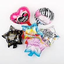 50 pçs/lote 10 polegada espanhol mama foil balões feliz aniversário suprimentos dia das mães decorações mini globos de ar feliz cumpleanos