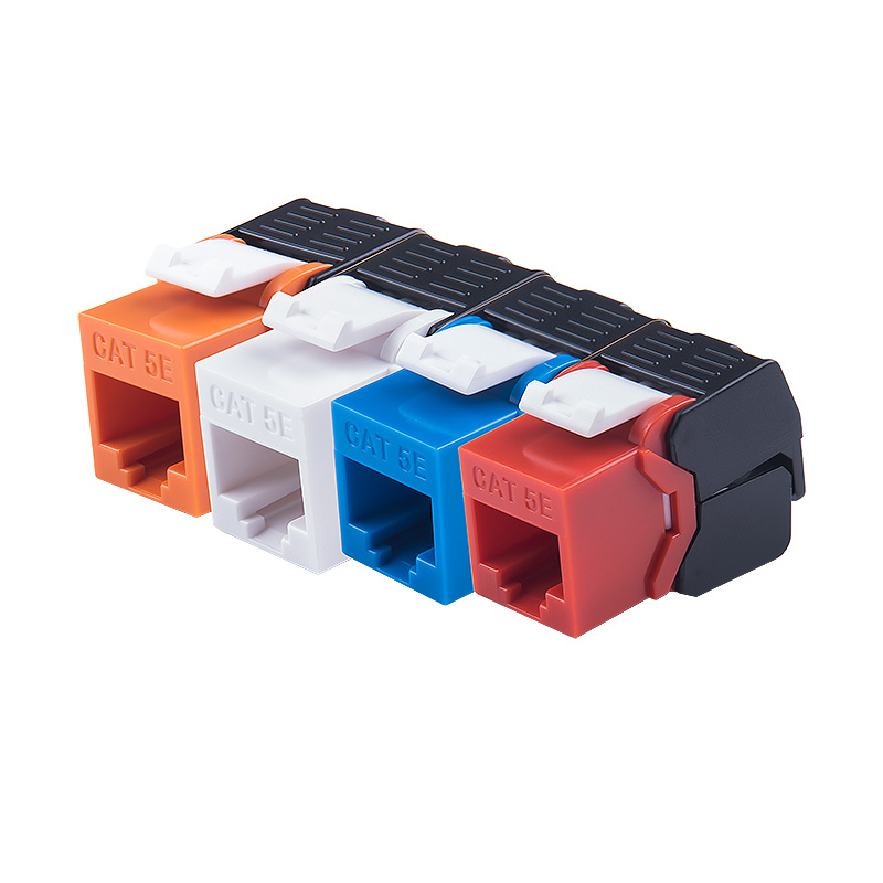 1000Mbps Ethernet RJ45 CAT 5e Colorful Keystone Jacks Toolless Type Network Modules Tool-free Connection 4 Colors For Optional