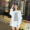 100% Pure Cotton Beading Funny High Quality Rabbit Fleece Lamb Hoodies 2021 Japan Hip Hop Casual Sweatshirts Streetwear 3