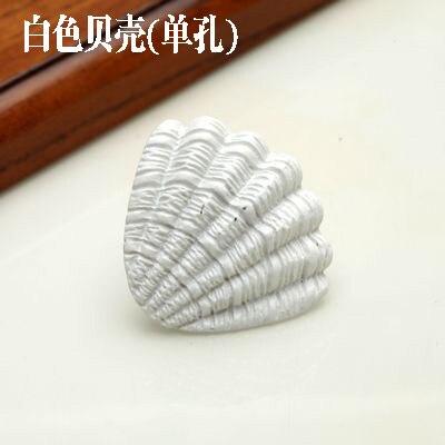 1 шт. морская серия полимерные ручки тянет ручка ящика шкафа и ручка для домашнего оборудования дверные ручки для мебели морская Морская звезда - Цвет: White shell