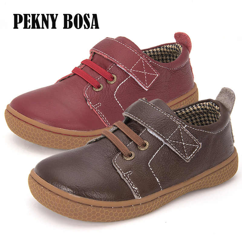 Genuine Leather kids shoes children