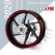 New motorcycle front and rear wheel edge outer edge moto sticker waterproof rim stripe tape decal for SUZUKI V-STROM v-strom