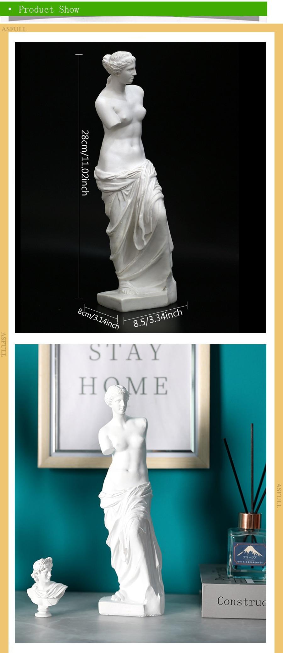 forma deusa decoração resina estátua moderna arte