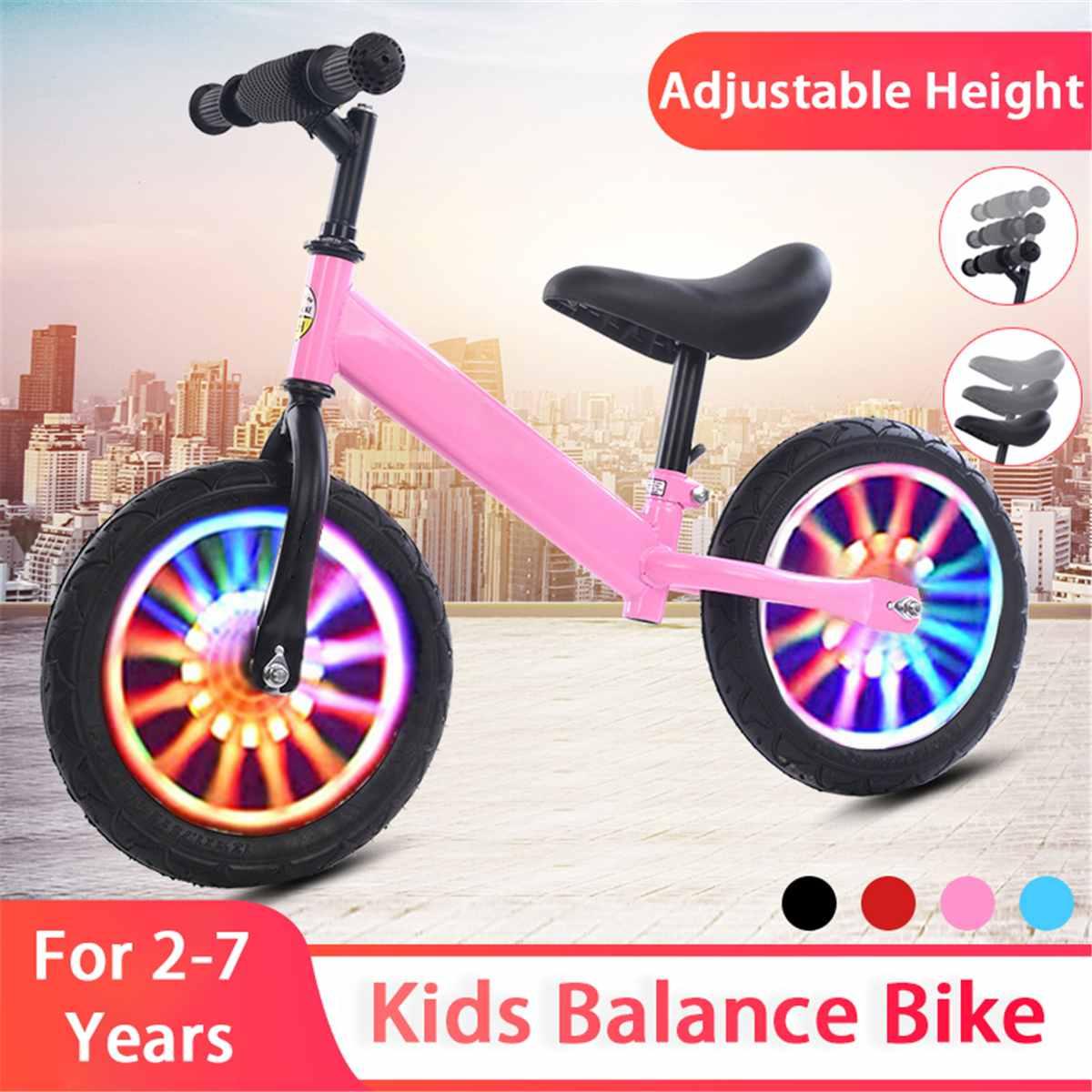 16 Inch Kids Balance Bike Children Toddlers Training Bicycle 3-6 Years Kids Learn to Ride Balance Bike Adjustable Height Gifts