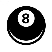 купить Car Sticker 8 Ball Magic Eight Ball Automobiles Motorcycles Accessories Vinyl Decals for BMW VW Audi Octavia Gti Skoda,12cm*12cm в интернет-магазине
