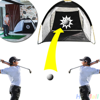 Outdoor Portable 1M Golf Training Cages Practice Net Training Free Mat