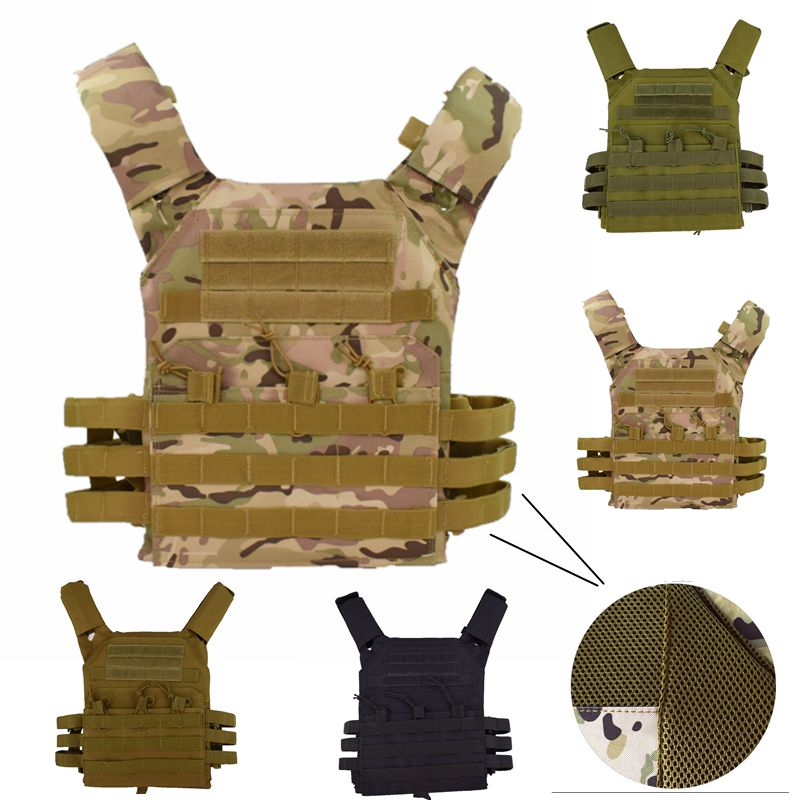 Military Molle Plate Carrier Magazine 600D Hunting Security Tactical Vest Airsoft Paintball CS  Protective Lightweight Vest