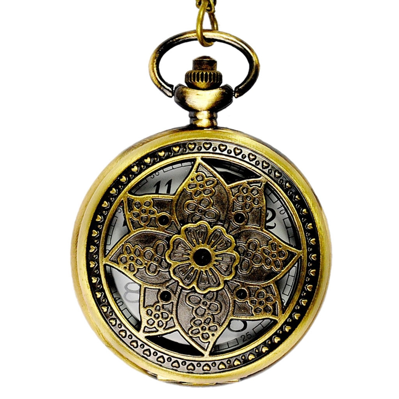 Korean Version Of The New Pocket Watch Classical Large Big Maple Leaf Retro Huai Court Wind Flip Pocket Watch