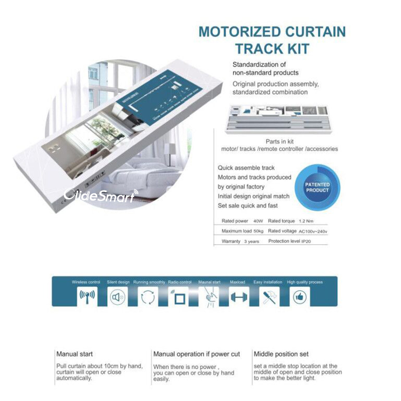 Work with Alexa Homesupplier Smart Curtain Rod Customizable Length ...