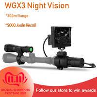 WILDGAMEPLUS WGX3 NV Scope Cameras 5 inch Display 300M Range at full dark Forest  Riflescope Cameras