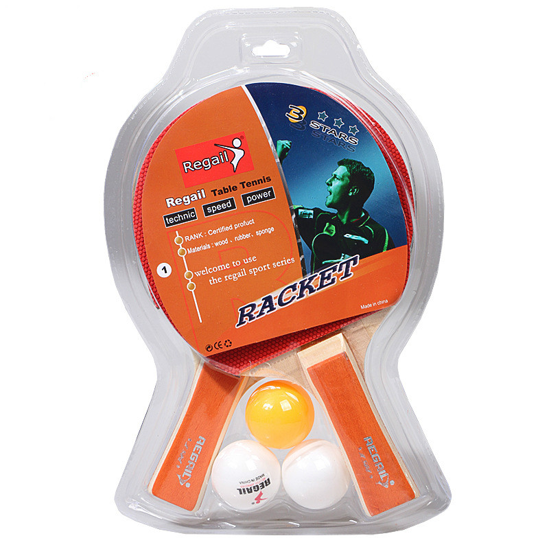 Genuine Table Tennis Racket A508 Table Tennis Set Practice Racket Pingpong Ball Accessories Long Handle Horizontal